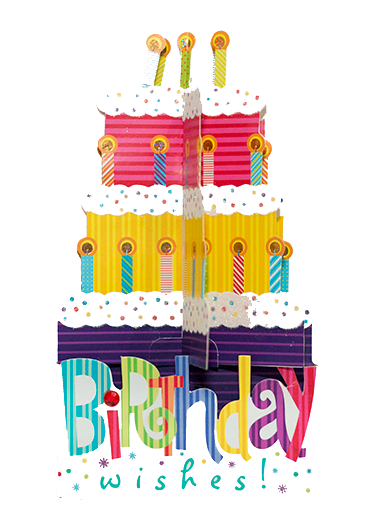 Prime 3D Hand Made Birthday Cake Card Personalised Greeting Cards In Funny Birthday Cards Online Fluifree Goldxyz