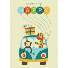 Baloon Man Birthday Card