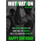 Motivation Magazine Cover Birthday