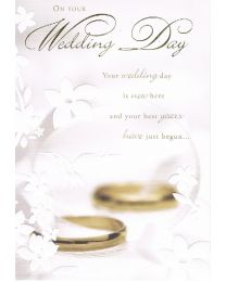 Best wishes card for a wedding
