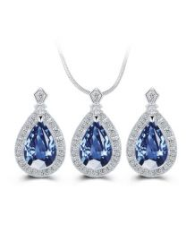 Blue Crystal Jewellery Set