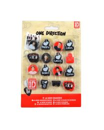 One Direction 16 mini Erasers