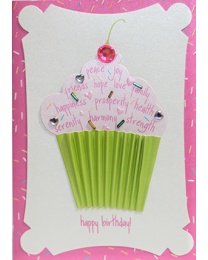 Cup Cake Birthday Card for Her