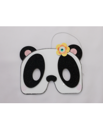 Panda Mask Birthday Card