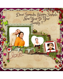 Photo Upload Sinhala New Year Card