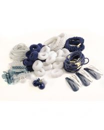 Hair Band & Clip Bundle - - 85 Pcs