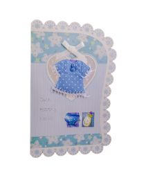 Welcome Blue - New Born Baby Card