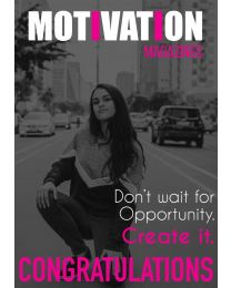 Motivation Magazine Cover Congratulations