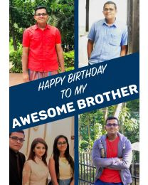 Happy Birthday Awesome Brother