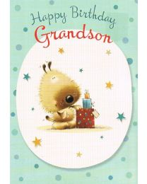 Happy Birthday Card Grandson